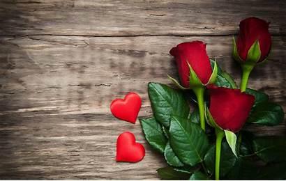 Roses Valentine Wood Flowers Heart Flower Blumen