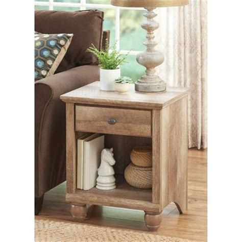 walmart living room end tables better homes and gardens crossmill collection end table