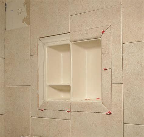 how to install shower recessed shelf free