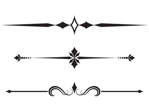 vector calligraphic border elements