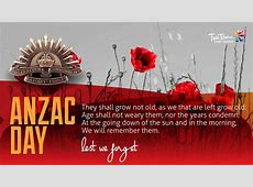 ANZAC Day 2018 – Lest We Forget Twin Towns Clubs & Resorts