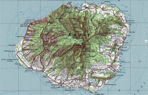 kauai topographic maps