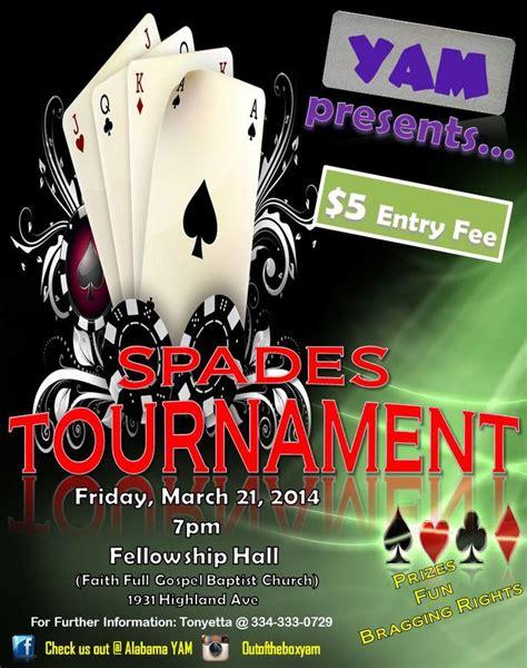 yam spades tournament flyer flyersinvites  hannah