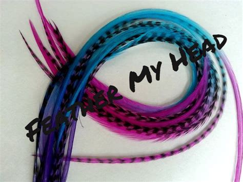 10 Ombre Tie Dye Fade Feather Extension Whiting Rooster