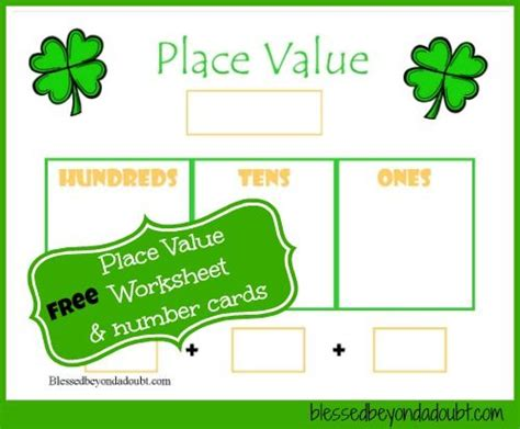 free tree place value worksheet and more