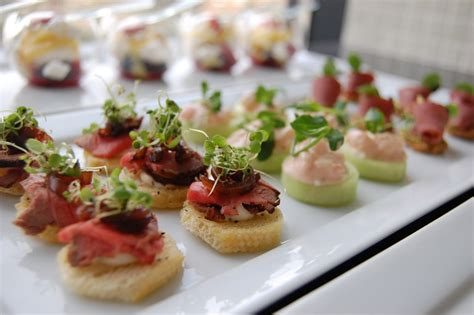 house canape weddings at powerscourt house canapes and starters