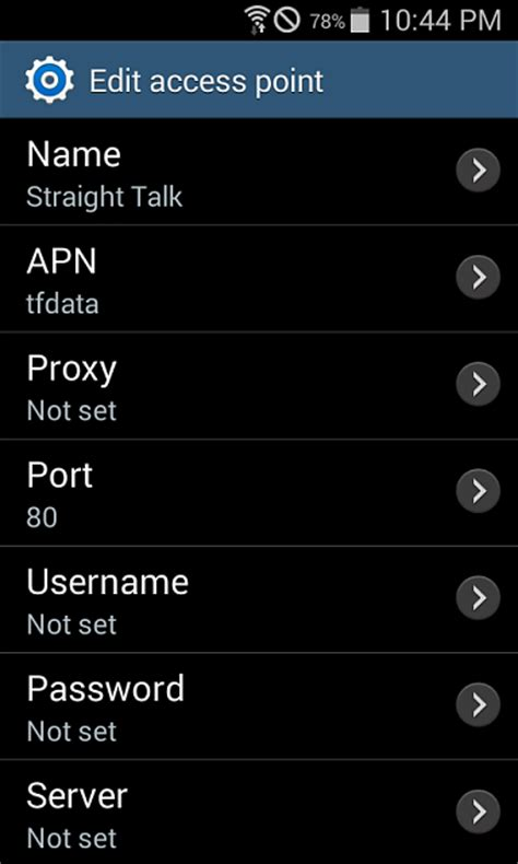talk apn settings android talk apn settings for and for at t