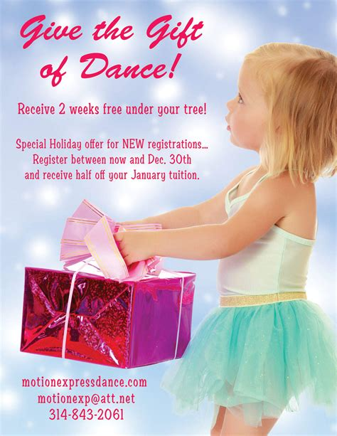 Give The Gift Of Dance!  Motion Express