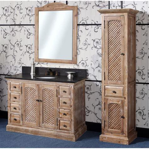 abel   rustic single sink bathroom vanity natural