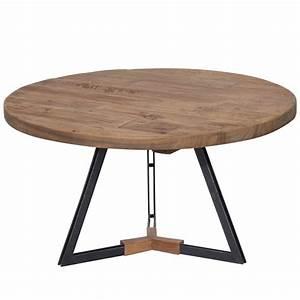 Table Bois Metal Extensible : table industrielle metal bois haute extensible lali salle carre redoute grande acier ronde basse ~ Teatrodelosmanantiales.com Idées de Décoration