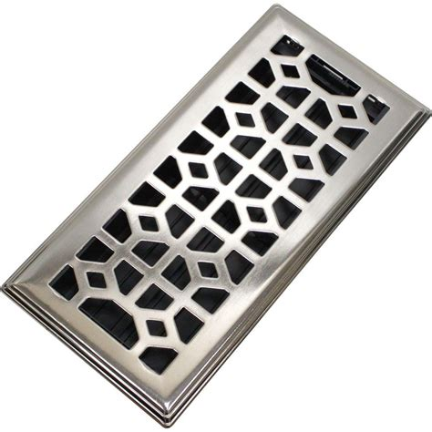 metal floor registers home depot decor grates 2 in x 12 in steel brushed nickel