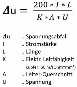 Querschnitt Berechnen Formel : passende kabel f r led installationen ~ Themetempest.com Abrechnung