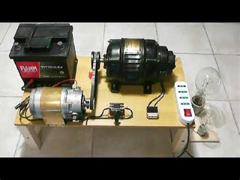 Electric Motor Generator by Alternator 220v Motor Generator 12v Charging System