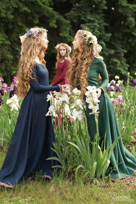 bridesmaid dress secret garden medieval renaissance themed