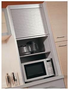 Rideau Coulissant Pour Meuble : meuble de cuisine avec volet roulant en aluminium ~ Teatrodelosmanantiales.com Idées de Décoration