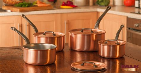 saucepan copper cookware classical range falk