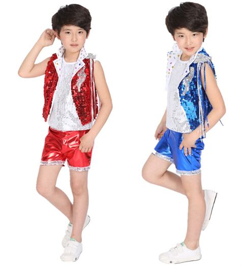costumes de danse jazz a 080 blue children s stage jazz sequined suit jazz