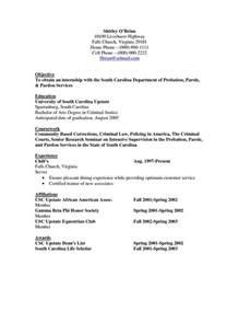 criminal justice internship resume sle objective resume criminal justice http www resumecareer info objective resume criminal