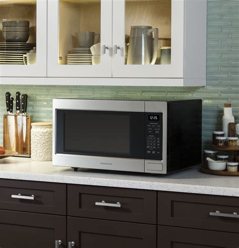 zebshss monogram  cu ft countertop microwave oven  monogram collection