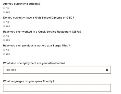 burger king career guide burger king application