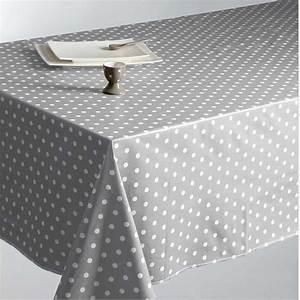 Nappe Toile Cirée Design : nappe en toile cir e pois gris 140x240cm ~ Teatrodelosmanantiales.com Idées de Décoration