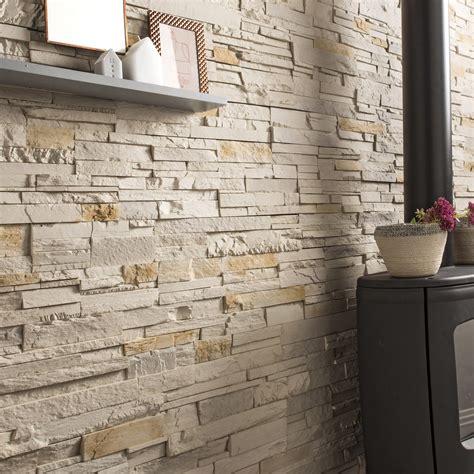plaquette de parement cuisine plaquette de parement béton beige nuancé santorin leroy