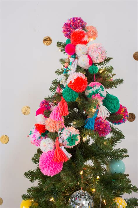 pom pom tree topper  joy