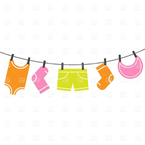 Baby Clothes Line Clip Art