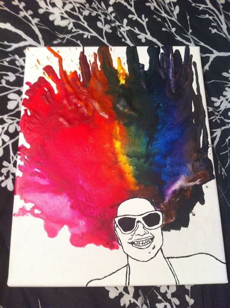 melted crayon portrait   create  piece  melted