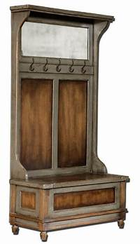 hall tree with storage bench Luxe Solid Wood HALL TREE Coat Hat Rack Storage Bench Rustic Distressed Cottage | eBay