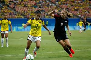 USA women's Olympic winning streak halted by Colombia ...