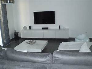 25 beste deco appartement blanc gris masahblecom With idee deco salon gris et blanc