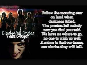 Black Veil Brides - Fallen Angels [lyrics] - YouTube