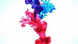 Red Colored Ink Dropped Into Water, Shot At 60fps And ...