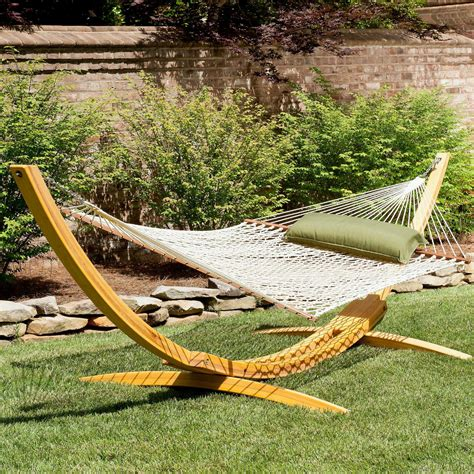 Hammock Wooden Stand by Hatteras Hammocks Deluxe Rope Hammock Wood Stand Dfohome