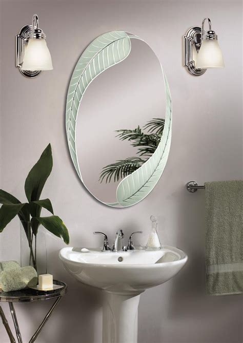 unique bathroom mirror ideas amazing original oval bathroom mirror for shinny looking