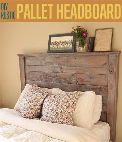 rustic pallet headboard recycled pallets