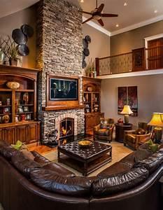 15, Warm, U0026, Cozy, Rustic, Living, Room, Designs, For, A, Cozy, Winter