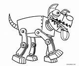 Robot Coloring Dog Cool2bkids Robo Printable Cartoon Animals Template Paw Patrol Space Sketch sketch template