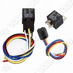 12v  12 Volt 30  40a Spdt 5 Pin Automotive Relay With Wire Socket    Wiring Harness