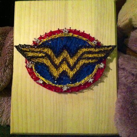 Wonder Woman String Art Superheroes