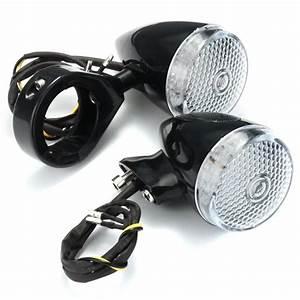 2pcs Front 2pcs Rear Motorcycle Led Turn Signal Light 41mm