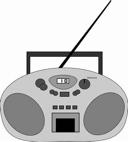 Radio Clipart I2clipart Domain رمادي صوره راديو