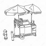 Dog Stand Street Illustration Drawn Hand Vector Drawing Cart Coloring Sketch Template Depositphotos Pages sketch template