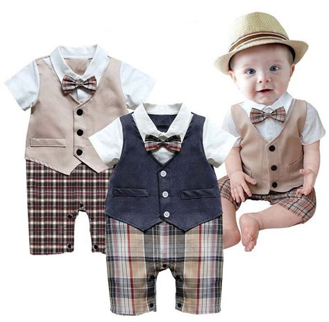 Baby Boy Wedding Christening Formal Party Tuxedo Suit Outfit Dress Clothes 3-18M | eBay