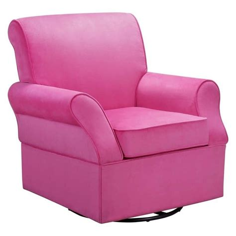 baby relax kelcie swivel glider and ottoman in pink