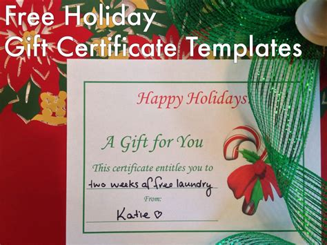 christmas cleaning templates free holiday gift certificates templates to print hubpages