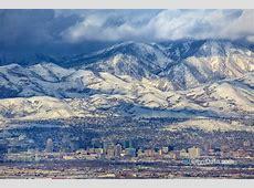 Salt lake city mountain panorama