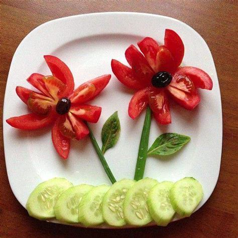 simple decorate vegetables salad dish stylish home