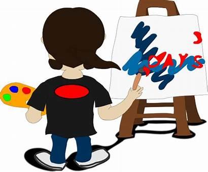 Clip Artist Painting Clipart Peintre Artiste Paint